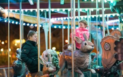 Greenway Carousel Celebrates the Holiday With Lights