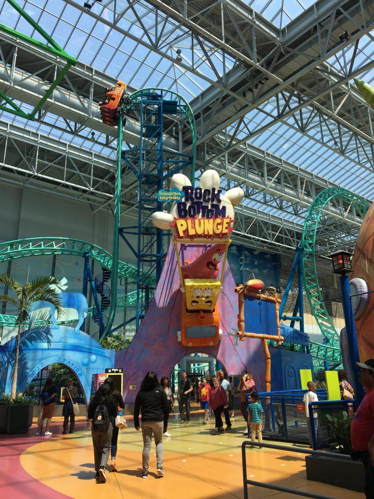 spongebob roller coaster at american dream mall in new jersey